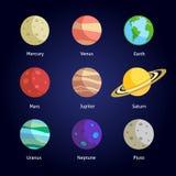 Dekorativ uppsättning för planeter Royaltyfria Bilder