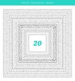 Dekorativ uppsättning för ramar 20 Fotografering för Bildbyråer
