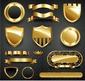 Dekorativ utsmyckad guldramsamling Royaltyfria Foton