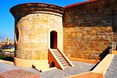 Dekorativ vägg av fästningen Kvalitets- foto royaltyfria foton