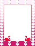 Dekorativ valentindagbakgrund Royaltyfria Foton