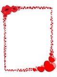 Dekorativ Valentine Love Frame eller gräns Arkivbild