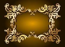 dekorativ vektor för ramguldtext Arkivbild