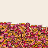 Dekorativ vektorbeståndsdelgräns Mallvågdesign Arkivbild