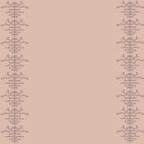 Dekorativ vektorgräns Arkivbilder