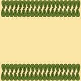 Dekorativ vektorgräns Arkivbild