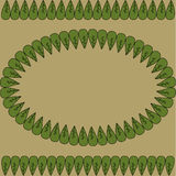 Dekorativ vektorram Royaltyfri Bild