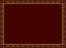 Dekorativ vektorram med den geometriska traceryen Royaltyfri Bild