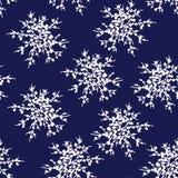 Dekorativ vektorsnöflingor eller blommauppsättning - vinterseriegem-konst vektor illustrationer