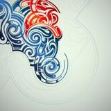 Dekorativ virvelabstraktion Arkivfoton
