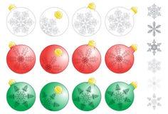 dekorativ xmas för bollar Arkivbild