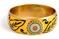 dekorativ yellow för armband Arkivfoton