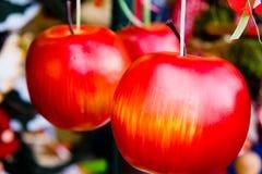 dekorativa äpplen Fotografering för Bildbyråer