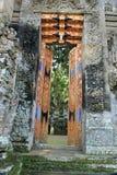 Dekorativa öppna dörrar av Pura Kehen Temple i Bali Royaltyfri Fotografi