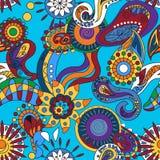 Dekorativa abstrakta blom- beståndsdelar Royaltyfri Fotografi