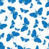dekorativa bakgrundsfjärilar Royaltyfria Bilder