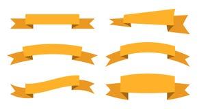 Dekorativa band för text, vektor illustrationer