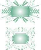 dekorativa baner Royaltyfria Bilder