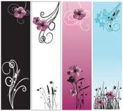 dekorativa baner vektor illustrationer