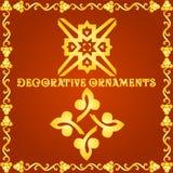 Dekorativa beståndsdelar för designer Royaltyfria Bilder