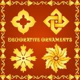 Dekorativa beståndsdelar för designer Arkivbild