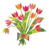 Dekorativa beståndsdelar för påsk i en triangulär stil Royaltyfria Bilder