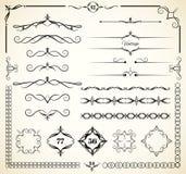 Dekorativa beståndsdelar för tappning Royaltyfria Foton