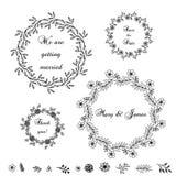 Dekorativa beståndsdelar för vektor Stock Illustrationer