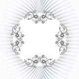 Dekorativa beståndsdelar i tappning utformar för garneringorientering vektor illustrationer