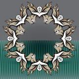 Dekorativa beståndsdelar i tappning utformar för garneringorientering stock illustrationer