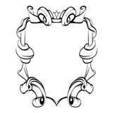 Dekorativa beståndsdelar i tappning utformar för garneringorientering royaltyfri illustrationer