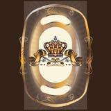 Dekorativa beståndsdelar i tappningstil royaltyfri illustrationer