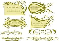 Dekorativa beståndsdelar - linjer & gränser Arkivfoton