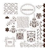 Dekorativa beståndsdelar - Retro tappningstil Royaltyfri Bild
