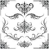 Dekorativa beståndsdelramar vektor illustrationer