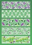 Dekorativa beståndsdelar för prydnad i keltisk stil Arkivbild