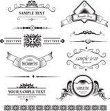 Dekorativa beståndsdelar - Retro tappningstil Arkivfoton