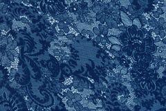 Dekorativa blått snör åt bakgrund Arkivfoton