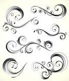 Dekorativa blom- element royaltyfri illustrationer