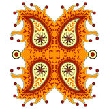 Dekorativa blom- paisley Arkivbild