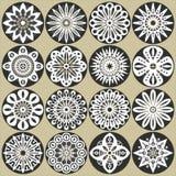 Dekorativa blommadekorer Arkivbilder