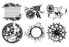 dekorativa blommaramar för cirkel Fotografering för Bildbyråer