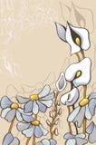 Dekorativa blommor Arkivbild
