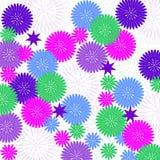 dekorativa blommor för bakgrund Arkivbilder