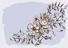 dekorativa blommor för kort Royaltyfri Foto