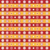 dekorativa blommor mönsan seamless Fotografering för Bildbyråer