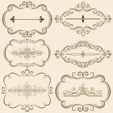 Dekorativa Calligraphic ramar III Arkivbilder