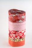 Dekorativa caskets med den blom- prydnaden Fotografering för Bildbyråer
