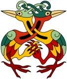 dekorativa celtic herons Fotografering för Bildbyråer
