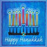 Dekorativa Chanukkahhälsningar Arkivbild